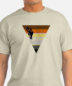 BEAR PRIDE TRIANGLE Ash Grey T-Shirt