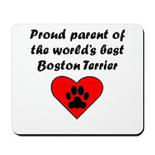 Boston Terrier Parent Mousepad