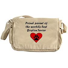 Boston Terrier Parent Messenger Bag