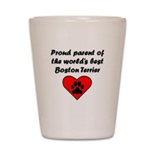 Boston Terrier Parent Shot Glass