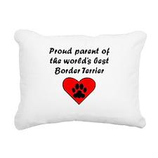 Border Terrier Parent Rectangular Canvas Pillow