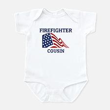 Firefighter COUSIN (Flag) Infant Bodysuit