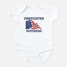Firefighter BOYFRIEND (Flag) Infant Bodysuit