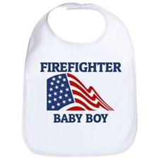 Firefighter BABY BOY (Flag) Bib