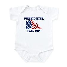 Firefighter BABY BOY (Flag) Infant Bodysuit