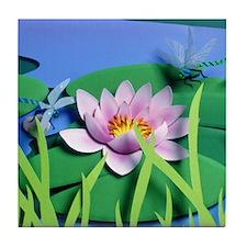 Good Morning Garden Tile Coaster