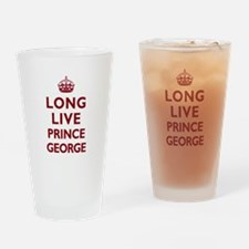 Long Live Prince George - Red on White Drinking Gl