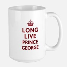 Long Live Prince George - Red on White Mugs