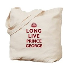 Long Live Prince George - Red on White Tote Bag
