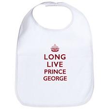 Long Live Prince George - Red on White Bib