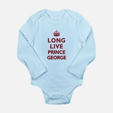 Long Live Prince George - Red on White Body Suit