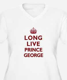 Long Live Prince George - Red on White Plus Size T