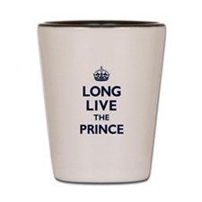 Long Live the Prince - Navy on White Shot Glass