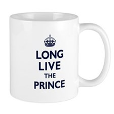 Long Live the Prince - Navy on White Mugs