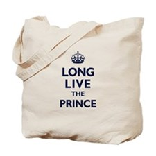 Long Live the Prince - Navy on White Tote Bag