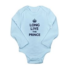 Long Live the Prince - Navy on White Body Suit