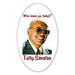 Savalas.TV Oval Sticker