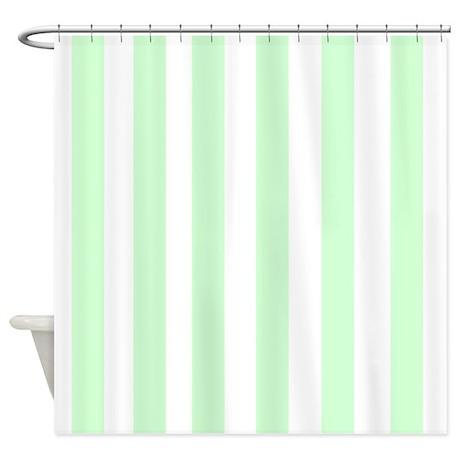 light green stripes shower curtain by familyfunshoppe