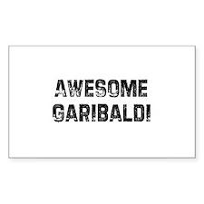 Awesome Garibaldi Rectangle Decal