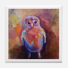Baby Barred Owl Tile Coaster