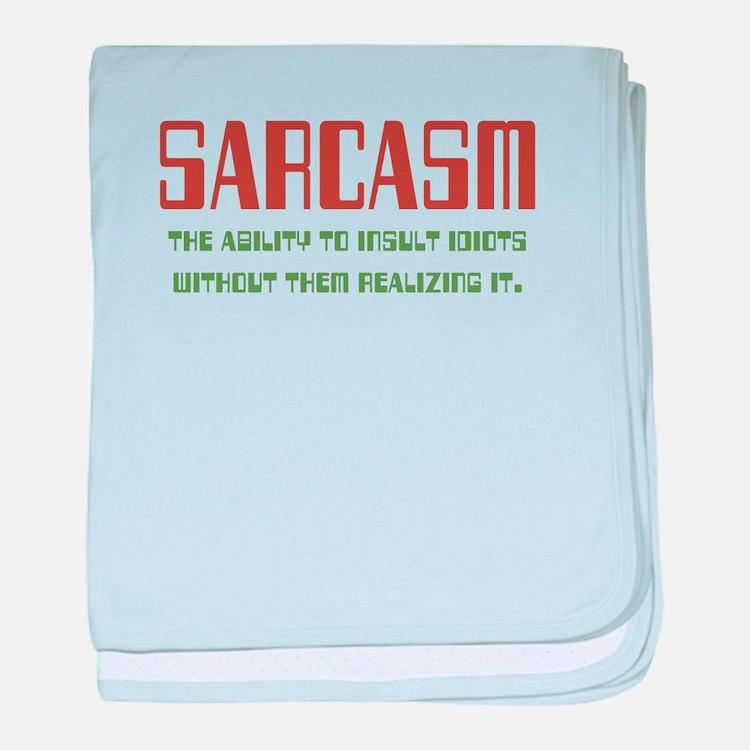 Sarcasm baby blanket