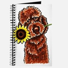 Sunny Chocolate Labrodoodle Journal