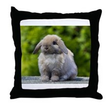 Funny Lop Throw Pillow