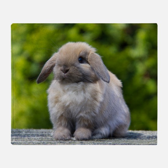 Cute Bunny rabbit Throw Blanket