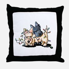 DeLighted Scotties Throw Pillow