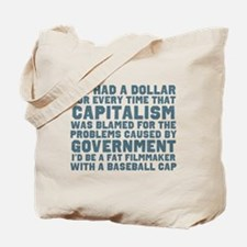 Blaming Capitalism Tote Bag