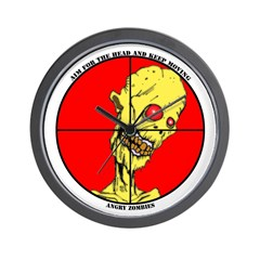 Angry Zombies Wall Clock