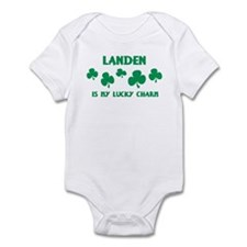 Landen is my lucky charm Infant Bodysuit