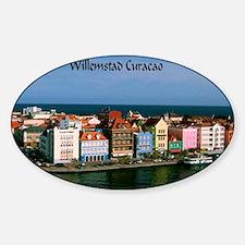 Willemstad Curacao Sticker (Oval)