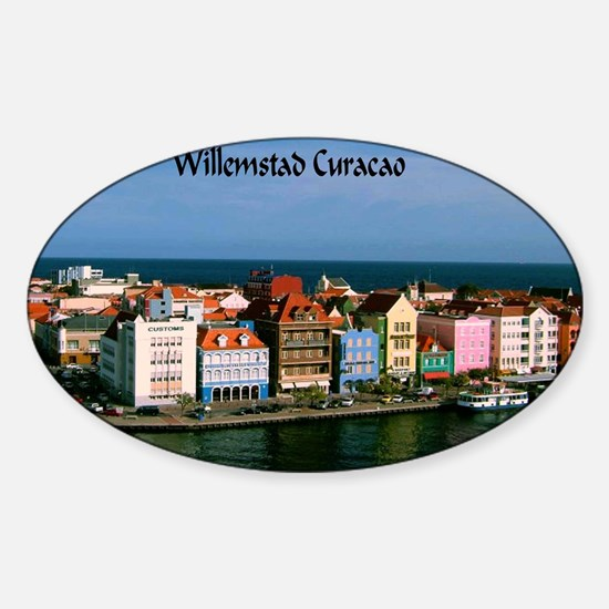 Willemstad Curacao Sticker (Oval)