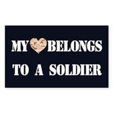 Heart Belongs To A Soldier Decal