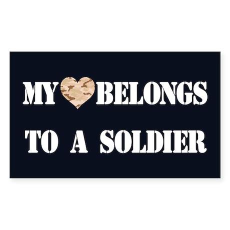 Heart Belongs To A Soldier Sticker