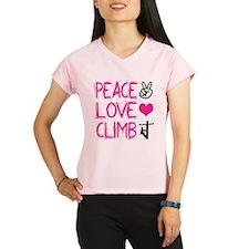 peace love climb pink Performance Dry T-Shirt