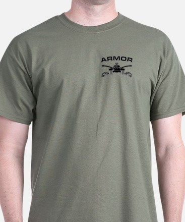 Armor Branch Insignia (BW) T-Shirt