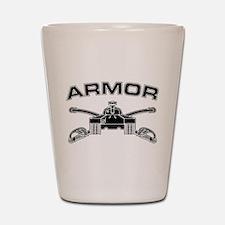 Armor Branch Insignia (BW) Shot Glass