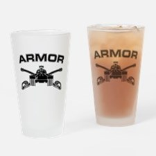 Armor Branch Insignia (BW) Drinking Glass