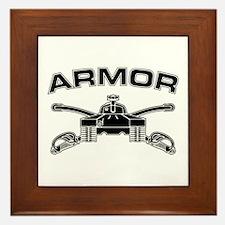 Armor Branch Insignia (BW) Framed Tile