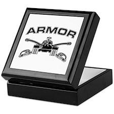 Armor Branch Insignia (BW) Keepsake Box