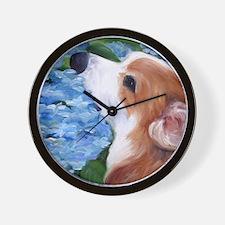 Hydrangeas Wall Clock