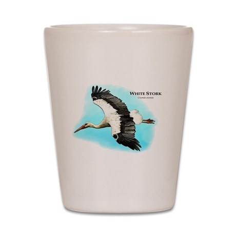 White Stork Shot Glass