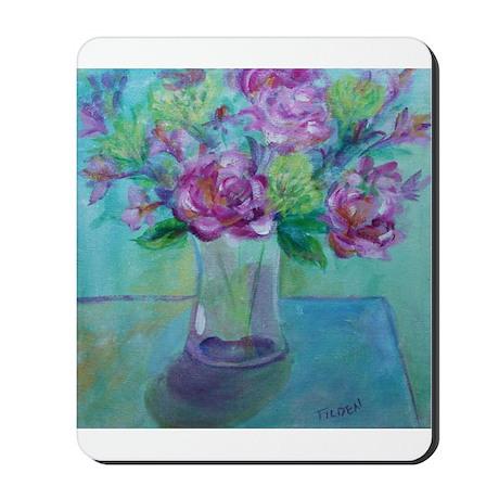 Roses in Vase Mousepad