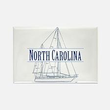 North Carolina - Rectangle Magnet
