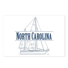 North Carolina - Postcards (Package of 8)