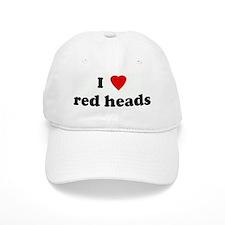 I Love red heads Baseball Cap