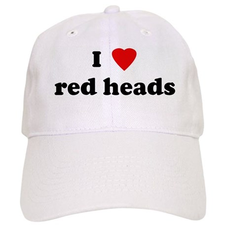 I Love red heads Cap