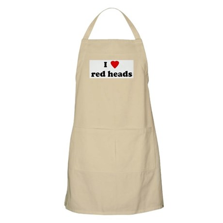 I Love red heads BBQ Apron